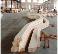 弧形梁 胶合木异形梁 曲形胶合木来图加工