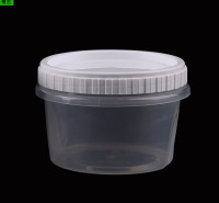 厂家批发一次性密封PP甜品圆碗外卖打包汤粥碗塑料加厚螺旋汤杯可定制