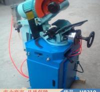 智众多功能45度切角机 无毛刺金属圆锯机 气动大功率台式切管机货号H8310
