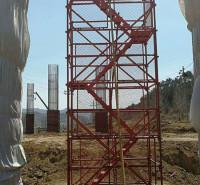 建筑承插式安全爬梯 施工用香蕉式安全爬梯 工地基坑安全爬梯 规格多样