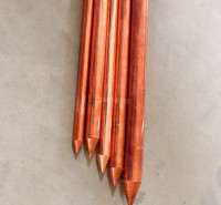 锴盛防雷器材厂家现货销售 直径20镀铜钢接地棒 镀铜接地极 铜包钢接地棒